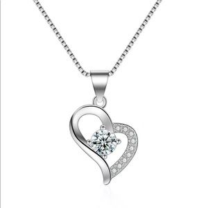 925 Sterling Silver Love Heart Necklace